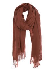 Ultra Soft Solid Color Scarf Cashmere Feel Wrap Brick