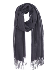 Ultra Soft Solid Color Scarf Cashmere Feel Wrap Grey