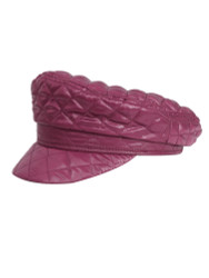 Women's Quilted Baker Boy Cap Newsboy Hat Burgundy