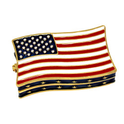 American Flag Trinket Box Bejeweled