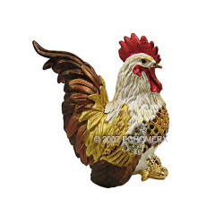 Rooster Trinket Box Gold
