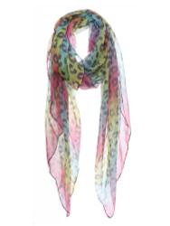 Rainbow Cheetah Print Soft Scarf
