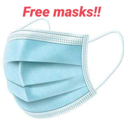 Free Disposable Mask Limit to 5 Pc  Per Order