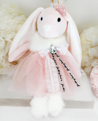 Princess Bunny Plush Toy Cuddly Keychain Bag Charm Oversize Pink