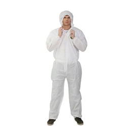 Cleanroom Coverall Suit Disposable with Hoodie Size XL