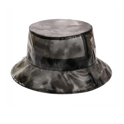 Super Soft PVC Bucket Hat Foldable Watercolor Black