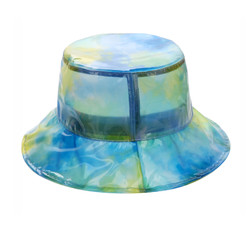 Super Soft PVC Bucket Hat Foldable Watercolor Blue