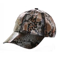 Soft PVC Transparent Baseball Cap Packable Rain Hat Snake Print