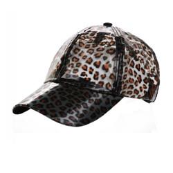 Soft PVC Transparent Baseball Cap Packable Rain Hat Leopard Print