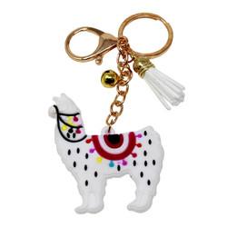 llama alpaca keychain rubber pu purse charm