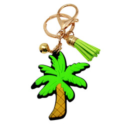 palm tree keychain purse charm