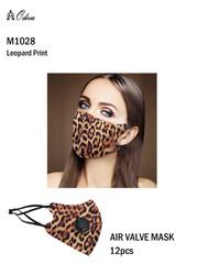 12 Piece Fashion Masks Leopard Print