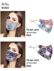 12 Piece Fashion Masks Tie Dye Animal Print