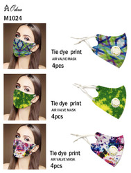 12 Piece Fashion Masks Abstract Tie Dye