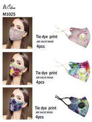 12 Piece Fashion Masks Watercolor Tie Dye