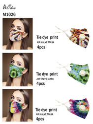 12 Piece Fashion Masks Trendy Tie Dye