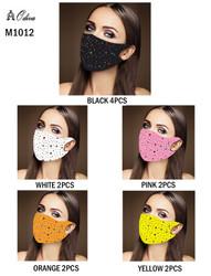 12 Piece Fashion Masks Diamond Multicolors