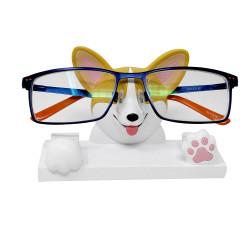 corgi face eyeglass stand