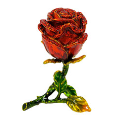 red rose trinket box