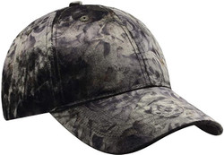 Olive Green Rose Printed Velour Baseball Cap Hat