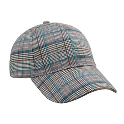 Checkered Plaid Baseball Cap Hat Unisex Blue