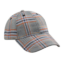 Checkered Plaid Baseball Cap Hat Unisex Blue Red