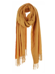 Ultra Soft Solid Color Scarf Cashmere Feel Wrap Mustard