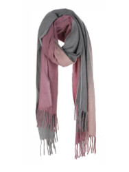 Ultra Soft Scarf Cashmere Feel Tie Dye Grey