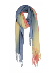Ultra Soft Scarf Cashmere Feel Tie Dye Mustard Blue