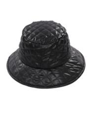 Quilted Nylon Bucket Hat Rain for Women Black