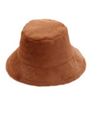 Copy of Soft Faux Fur Bucket Hat Furry for Women Caramel