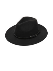 Teardrop Crown Vintage Aussie Felt Fedora Hat Black