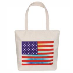 USA flag tote canvas bag