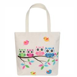 Owl and Birds Tote Beach Bag