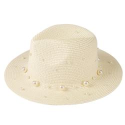 Pearl Fedora Hat Ivory