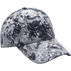 Elegant Rose Printed Baseball Cap Hat Grey