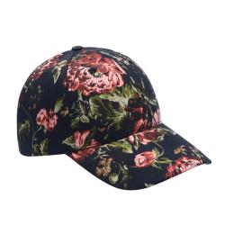 Copy of Elegant Rose Printed Baseball Cap Hat Pink Green