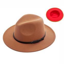 Teardrop Crown Vintage Aussie Felt Fedora Hat Camel