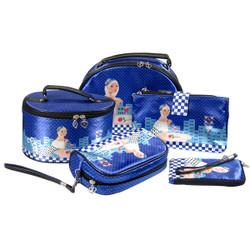 Starry Eyed Romantic Makeup Bags Set of 5