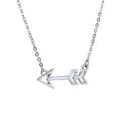 Aarow Pendent Necklace Silver