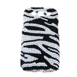 Samsung Galaxy S3 Case Bling Rhinestones Zebra Print Black White