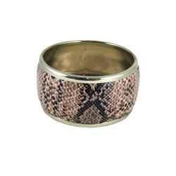 Faux Snake Skin Bangle Brown