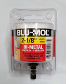 "Blu-Mol 2-1/8"" Bi-Metal Hole Saw With Attached Arbor  , 1-3/4"" Depth, #6521"