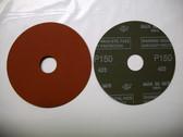 """Pferd 4-1/2"""" x 7/8"""" Fiber Resin Sanding Disc, 150 Grit, 25 pack"""