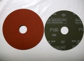 """Pferd 4-1/2"""" x 7/8"""" Fiber Resin Sanding Disc, 120 Grit, 25 pack"""