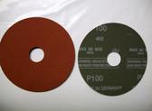 """Pferd 4-1/2"""" x 7/8"""" Fiber Resin Sanding Disc, 100 Grit, 25 pack"""