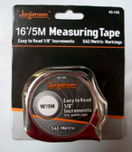 "5m / 16' Metric English Tape Measure, 3/4"" Blade, Jorgensen, Lot of 1"