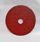 "5"" x 7/8"" Fiber Resin Sanding Disc Aluminum Oxide 36 Grit, LTS, 100 Discs"