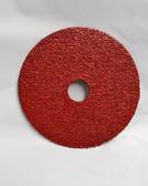 "5"" x 7/8"" Fiber Resin Sanding Disc Aluminum Oxide 24 Grit, LTS, 100 Discs"