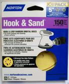 """5"""" Hook & Loop 5 or 8 Hole 150 Grit 25 pack Norton - Velcro"""